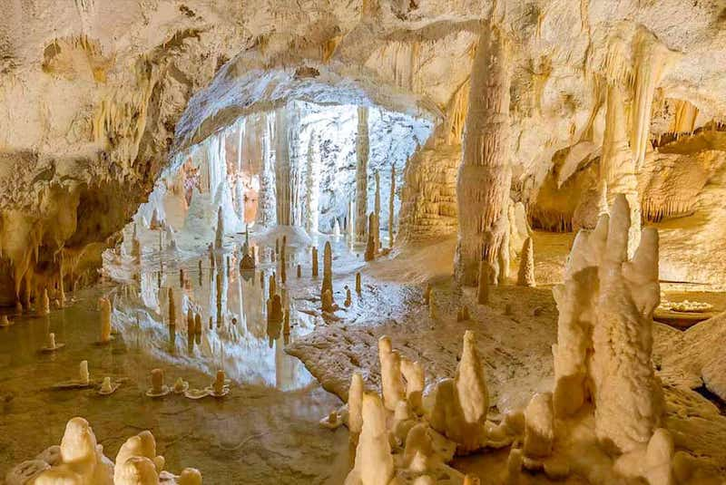 In the municipality of Genga, in province of Ancona, discovered in 1971